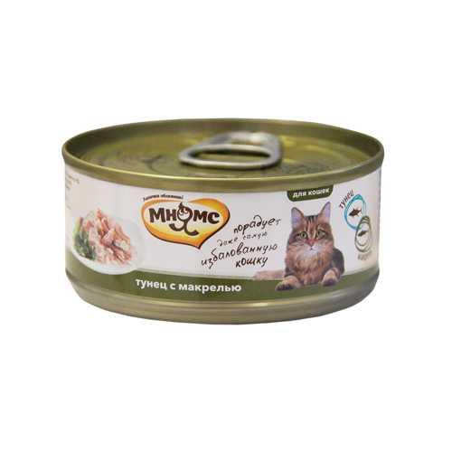 Мнямс консервы для кошек тунец с макрелью (0.07 кг) 12 шт