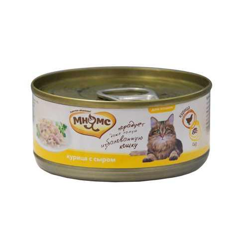 Мнямс консервы для кошек курица с сыром (0.07 кг) 12 шт