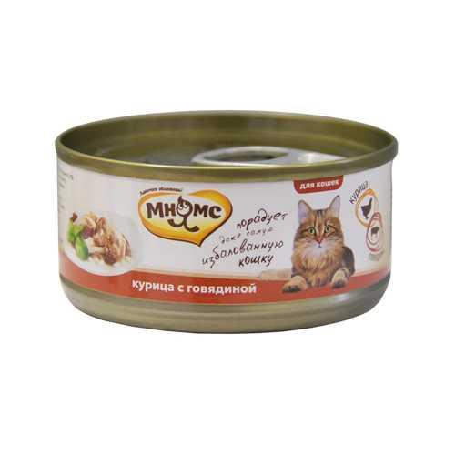 Мнямс консервы для кошек курица с говядиной (0.07 кг) 12 шт