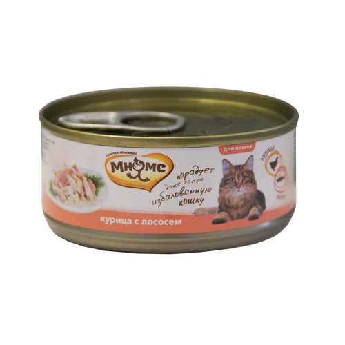 Мнямс консервы для кошек курица с лососем (0.07 кг) 12 шт