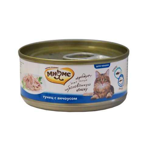 Мнямс консервы для кошек тунец с анчоусами (0.07 кг) 12 шт