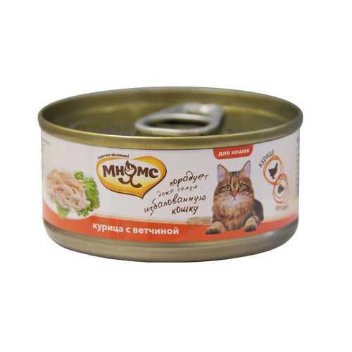 Мнямс консервы для кошек курица с ветчиной (0.07 кг) 12 шт