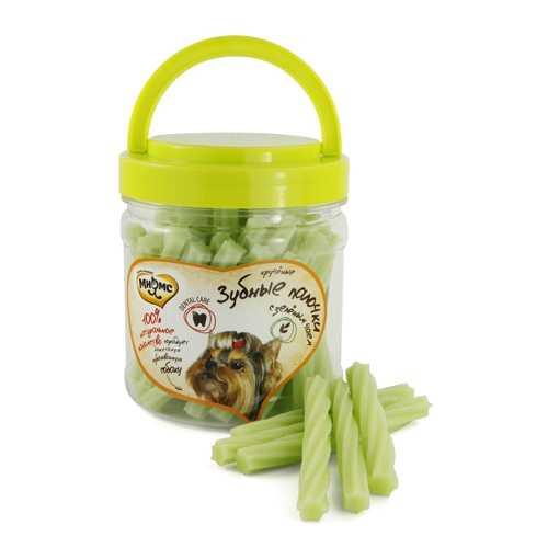 Мнямс лакомство для собак крученые зубные палочки с зелёным чаем 340 г