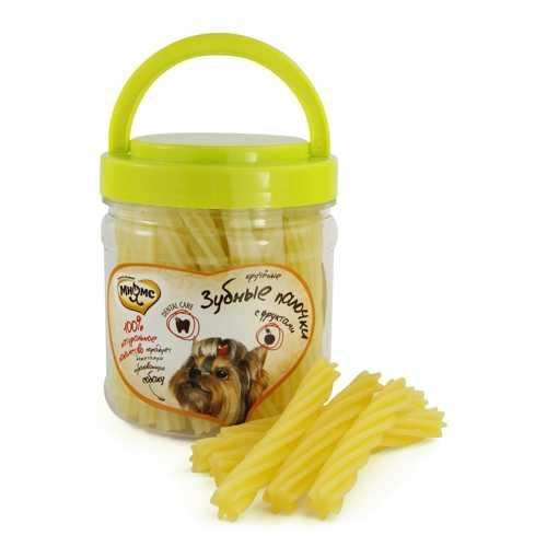 Мнямс лакомство для собак крученые зубные палочки с фруктами 340 г