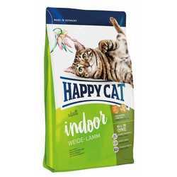 Хэппи Кет Фит & Велл Индор сухой корм для кошек с ягненком 10 кг
