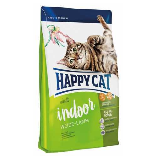 Хэппи Кет Фит & Велл Индор сухой корм для кошек с ягненком 4 кг