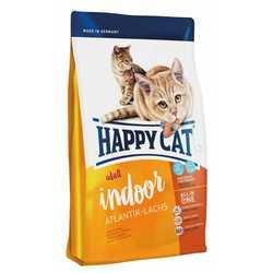 Хэппи Кет Фит & Велл Индор сухой корм для кошек с лососем 4 кг