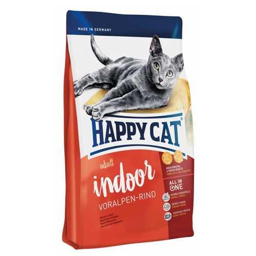 Хэппи Кет Фит & Велл Индор сухой корм для кошек с говядиной 10 кг