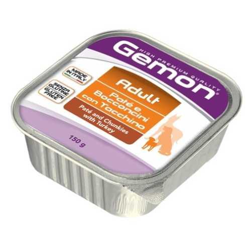 Gemon Dog консервы для собак паштет с кусочками индейки (0.15 кг) 24 шт