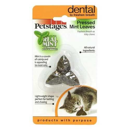 """Petstages игрушка для кошек """"Листик"""" из прессованных листьев кошачьей мяты"""