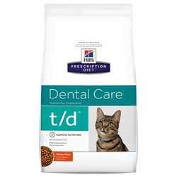 Hills Prescription Diet Feline t/d корм при заболеваниях ротовой полости 1,5 кг