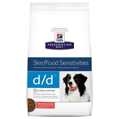 Hills D/D сухой диетический корм для собак при аллергии с лососем 2 кг