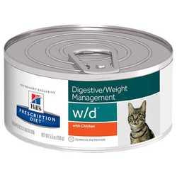 Hills Prescription Diet Feline w/d консервы для кошек при лечении диабете (0,156 кг) 1 шт