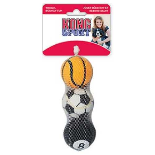 """Kong игрушка для собак Air Sport """"Теннисный мяч"""" очень маленький (в упаковке 3 шт) 4 см"""