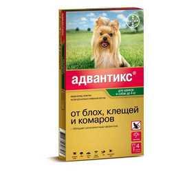 Advantix 40 капли для собак до 4 кг