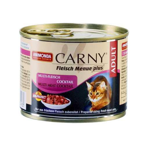 Анимонда консервы для кошек из разных сортов мяса (0,20 кг) 6 шт
