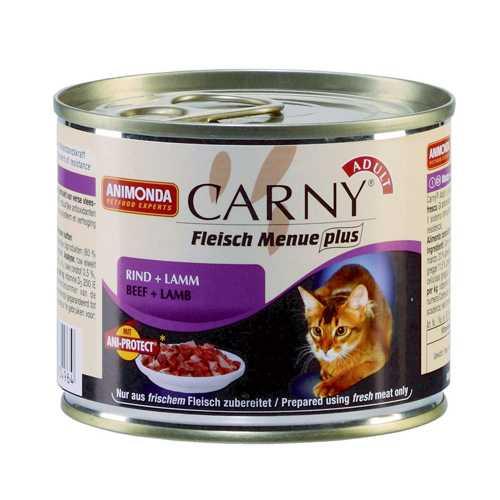 Анимонда консервы для кошек с говядиной и ягненком (0,20 кг ) 6 шт