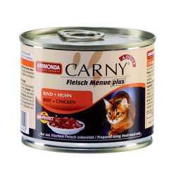 Animonda Carny консервы для кошек с говядиной и курицей (0,20 кг) 6 шт