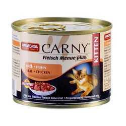 Animonda Carny Kitten консервы для котят говядина/телятина/курица (0,20 кг) 6 шт