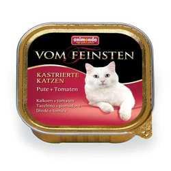 Animonda Vom Feinsten консервы для стерилизованных кошек с индейкой и томатами (0,10 кг) 32 шт