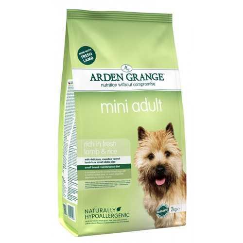 Arden Grange сухой корм для взрослых собак мелких пород с ягненком 2 кг