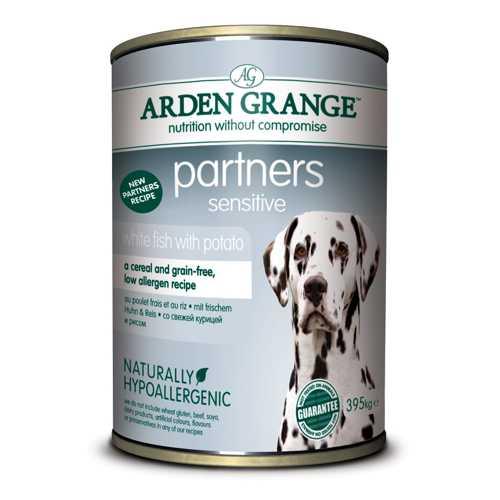 Arden Grange консервы для собак с белой рыбой и картофелем (0,395 кг) 6 шт
