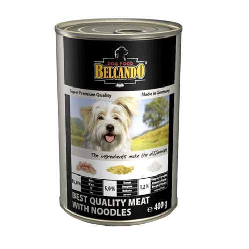 Белькандо консервы для собак мясо с лапшой (0.80 кг) 12 шт