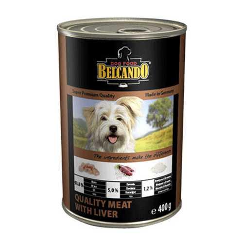Белькандо консервы для собак мясо с печенью (0.40 кг) 24 шт