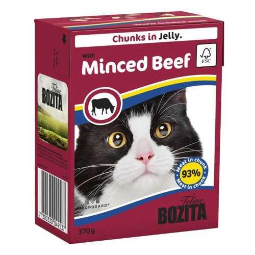 Бозита консервы для кошек рубленная говядина в желе (0,37 кг) 1 шт