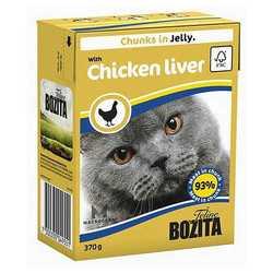 Bozita Chicken Liver для кошек куриная печень в желе (0,37 кг) 1 шт