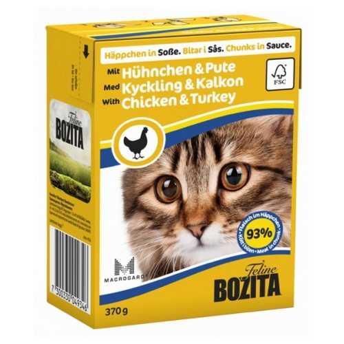 Бозита консервы для кошек курица с индейкой в соусе (0,37 кг) 1 шт