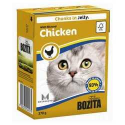 Bozita Chicken консервы для кошек с рубленной курицей в желе (0,37 кг) 1 шт