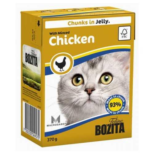 Бозита консервы для кошек рубленная курица в желе (0,37 кг) 1 шт