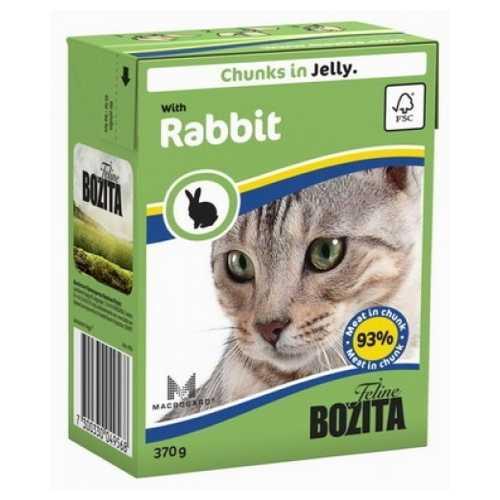 Бозита консервы для кошек кролик в желе (0,37 кг) 1 шт