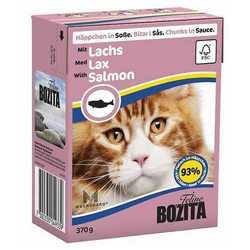 Bozita Salmon консервы для кошек лосось в соусе (0,37 кг) 1 шт