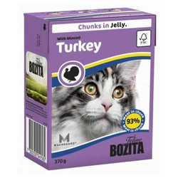 Bozita Turkey консервы для кошек рубленной индейкой в желе (0,37 кг) 1 шт