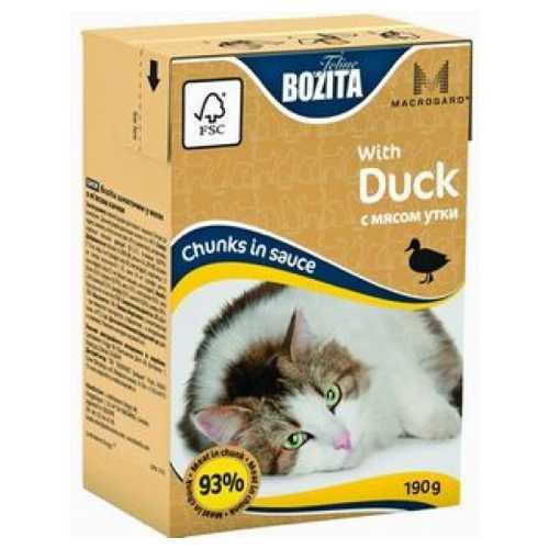Бозита консервы для кошек с уткой в соусе (0,19 кг) 1 шт