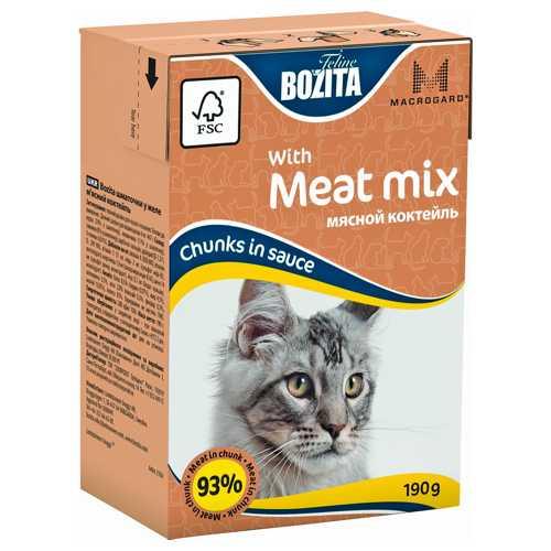 Бозита консервы для кошек мяcной коктейль в соусе (0,19 кг) 1 шт