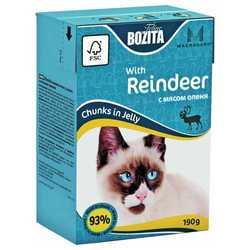 Bozita Reindeer консервы для кошек с олениной в желе  (0,19 кг) 1 шт