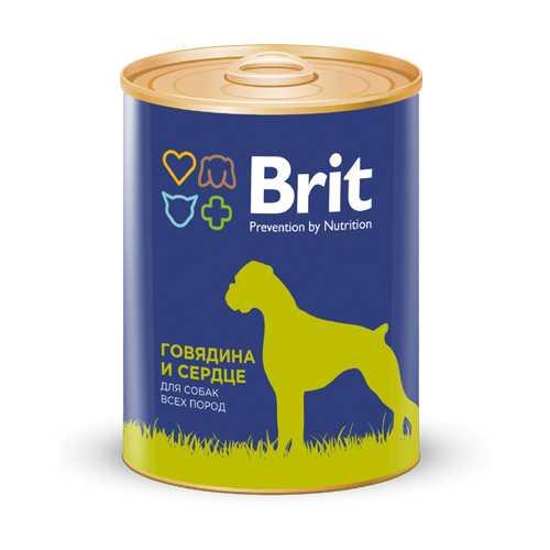 Брит консервы для собак говядина с сердцем (0,85 кг) 1 шт