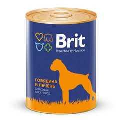 Brit Beef and Liver консервы для собак говядина с печенью (0,85 кг) 1 шт