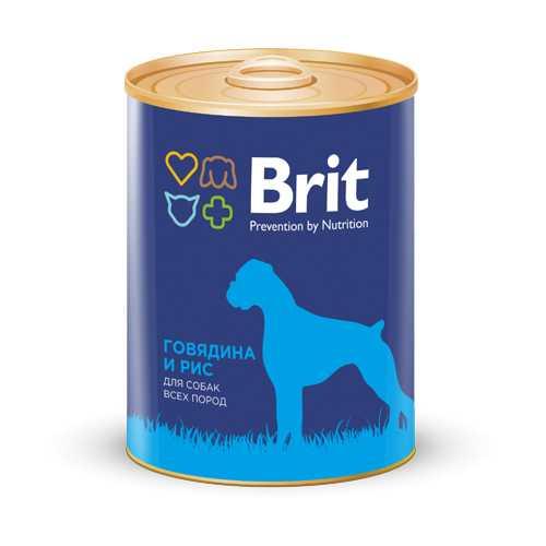 Брит консервы для собак говядина с рисом (0,85 кг) 1 шт