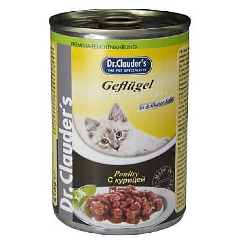 Доктор Клаудер консервы для кошек с курицей (0,41 кг) 20 шт