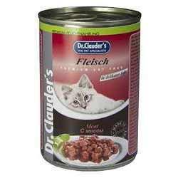 Dr Clauders консервы для кошек с мясом (0,41 кг) 12 шт
