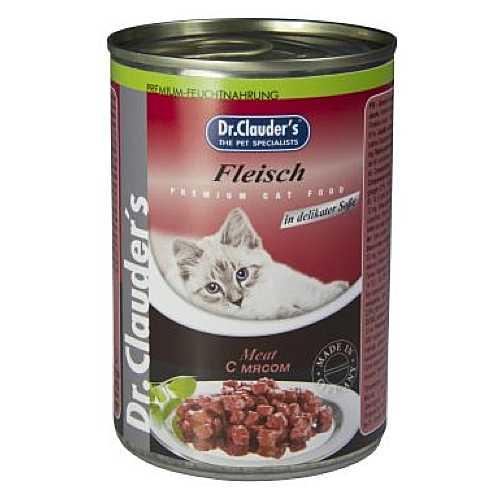 Доктор Клаудер консервы для кошек с мясом (0,41 кг) 20 шт