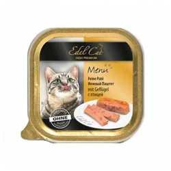 Эдель Кэт консервы для кошек с птицей ( 0,1 кг) 32 шт