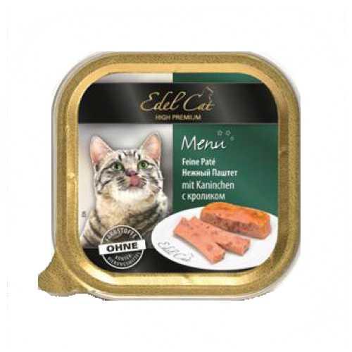 Эдель Кэт консервы для кошек с кроликом ( 0,1 кг) 32 шт