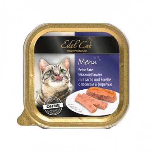 Эдель Кэт консервы для кошек с лососем и форелью ( 0,1 кг) 32 шт