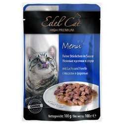 Эдель Кэт паучи для кошек с лососем и форелью ( 0,1 кг) 20 шт