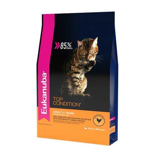 Эукануба сухой корм для взрослых кошек с курицей 2 кг